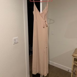 WAYF The Angelina Slit Wrap Gown Size M